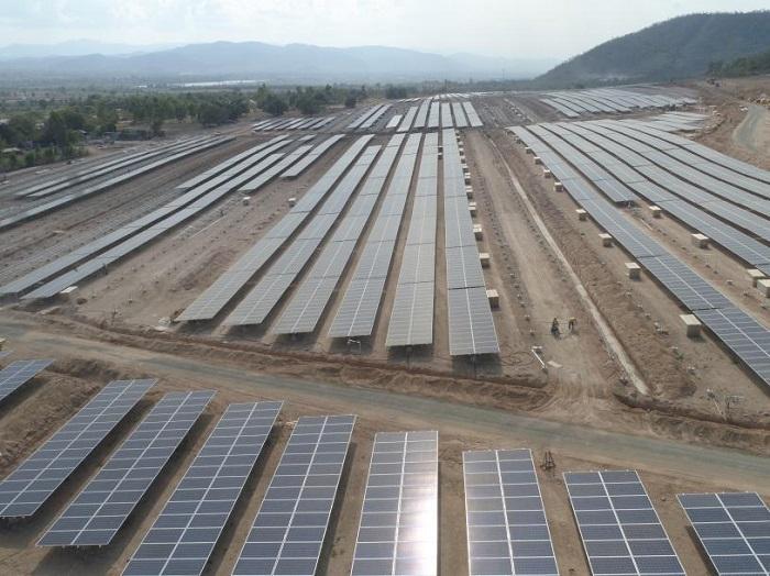 Đóng điện Dự án Điện mặt trời thứ 2 khu vực huyện Krông Pa