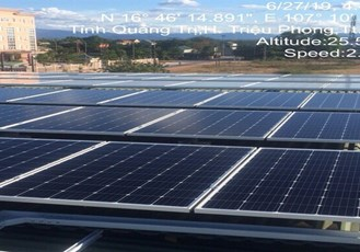 Quang Tri PC: Rooftop solar system has been applied in District Power Branches and Plant